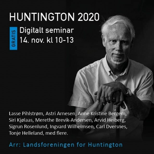HUNTINGTON 2020 - DIGITALT SEMINAR  lørdag 14.11.20